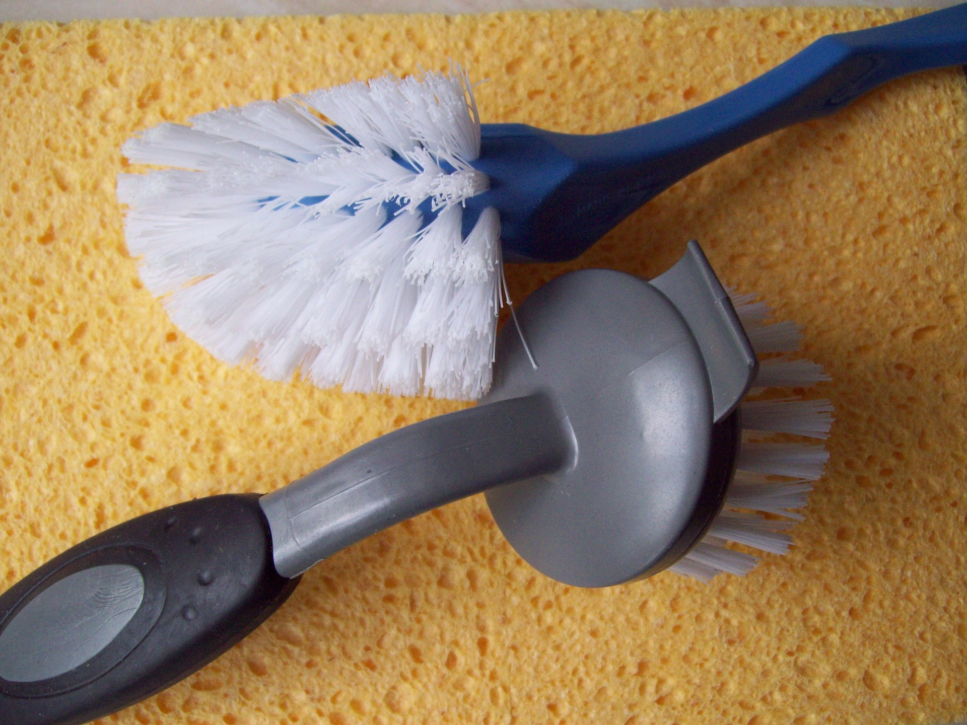 Disinfect all cleaning tools and throw away sponges that have been overused.
